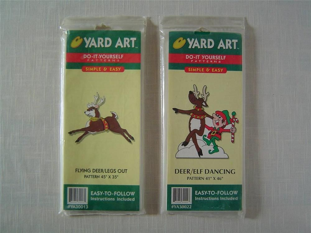 2 new yard art do it yourself christmas patterns flying deer deer 2 new yard art do it yourself christmas patterns flying deer deer solutioingenieria Images