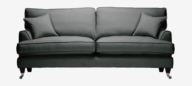 Florence Large Sofa With Fixed Covers In Vogue Pewter Sofa Large Sofa Fabric Sofa
