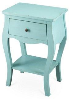 Lena Nightstand Light Blue Blue Nightstands Turquoise Furniture Small Nightstand