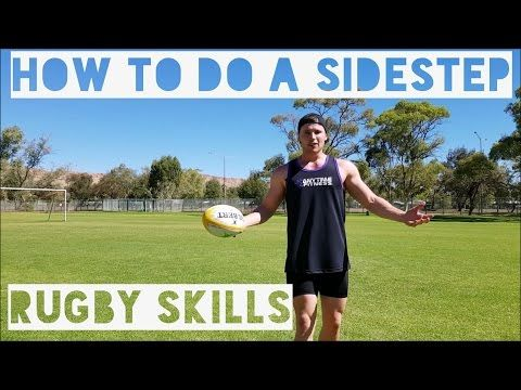 How To Do A Side Step Rugby Skills Tutorial Youtube Rugby Skills Tutorial