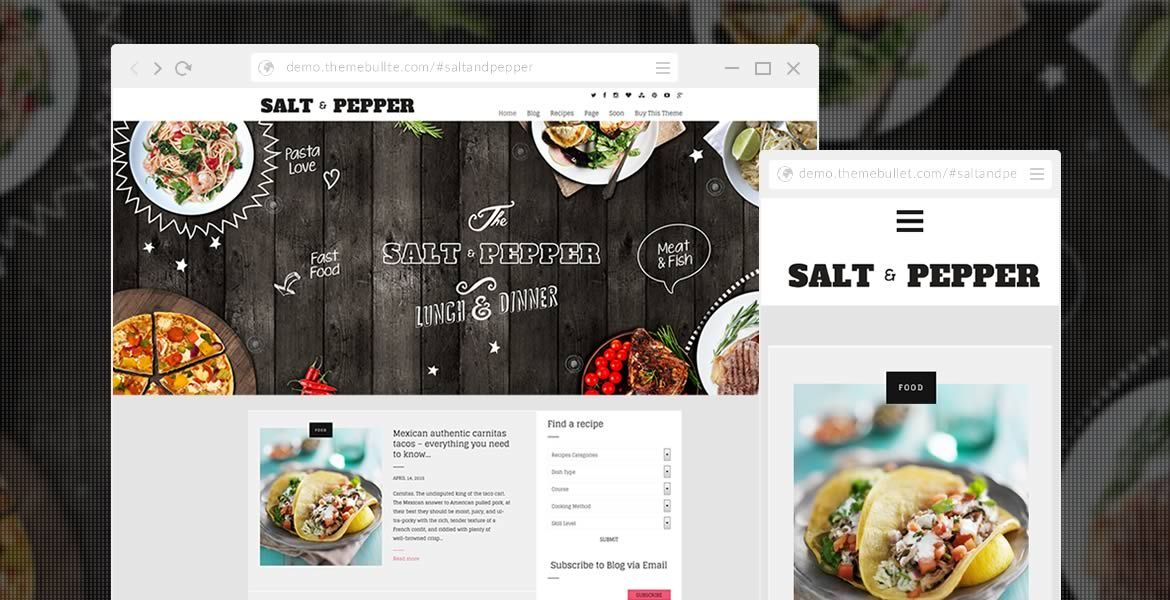 Salt pepper foody blog recipes theme wordpress salt pepper foody blog recipes theme forumfinder Image collections