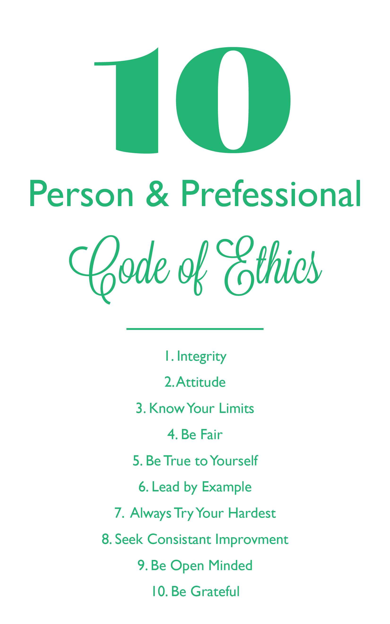 Personal Amp Professional Code Of Ethics