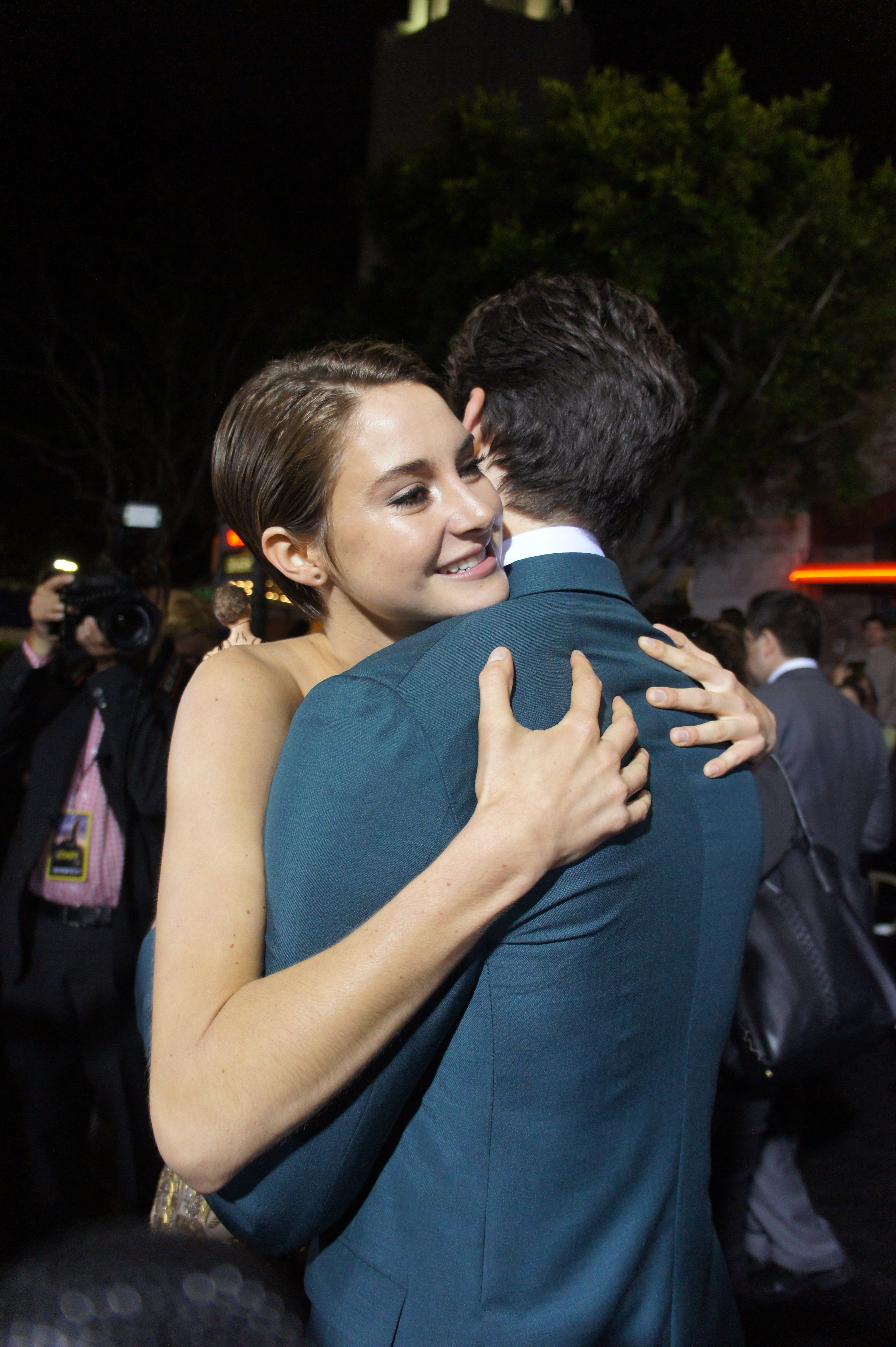 Shailene Woodley and Miles Teller at the Divergent World Premiere on March 18th in Westwood, CA.