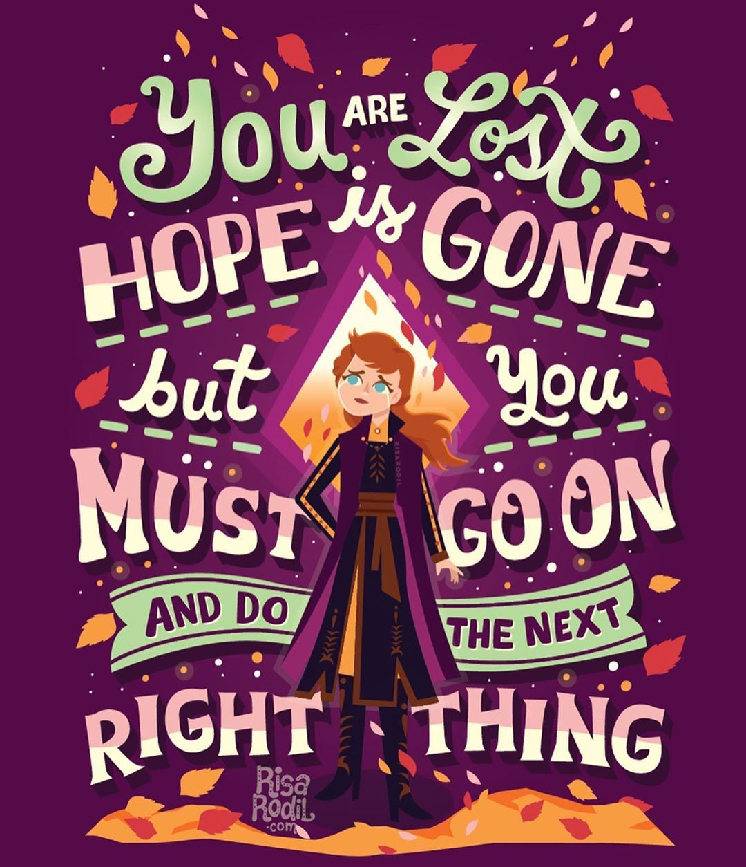 Right Thing Frozen Artwork By Risa Rodil Affiliate Frozen Disney Movie Disney Songs Disney Princess Quotes