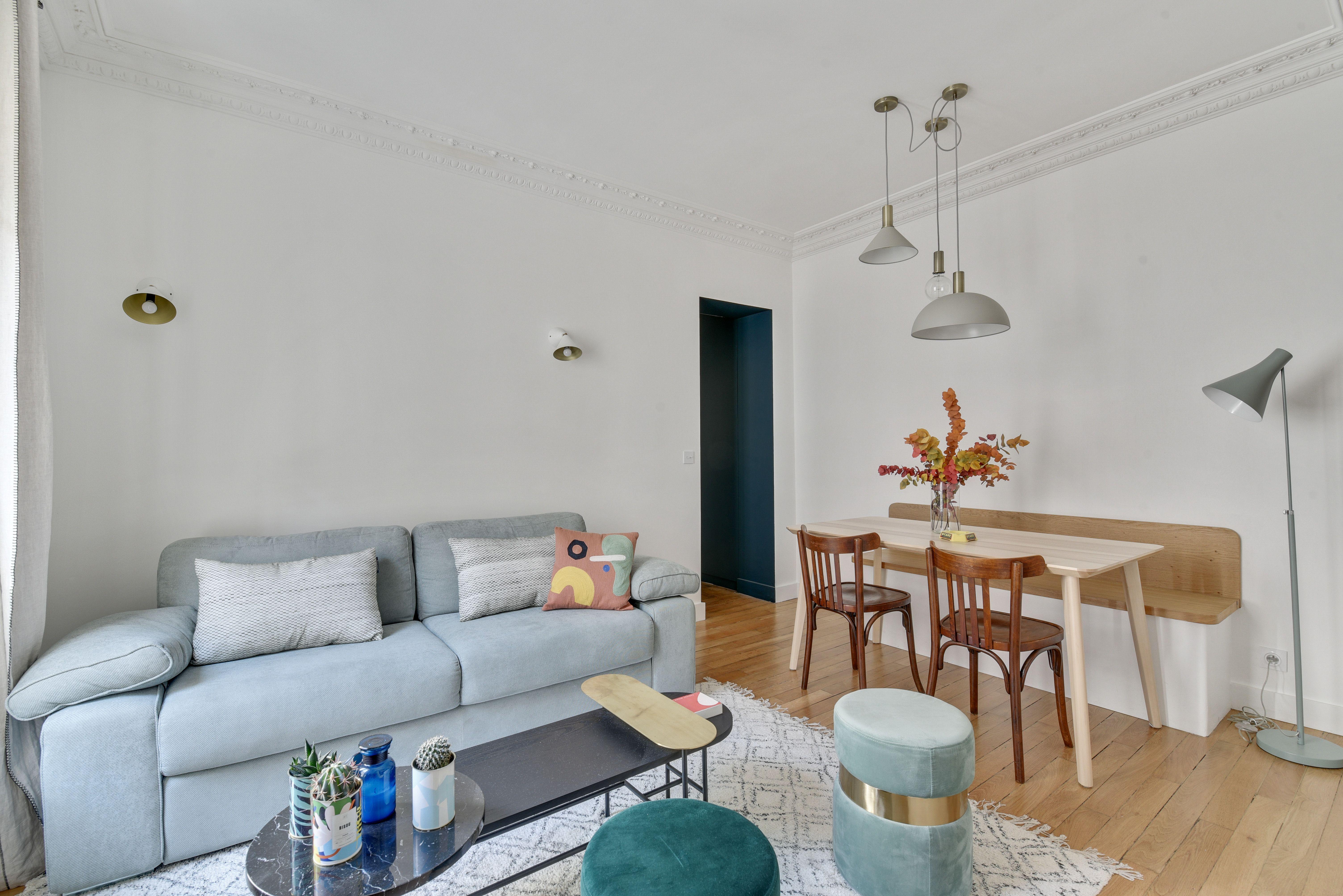 Salon De L Appartement Avec Images Appartement Architecte Interieur Appartement Paris