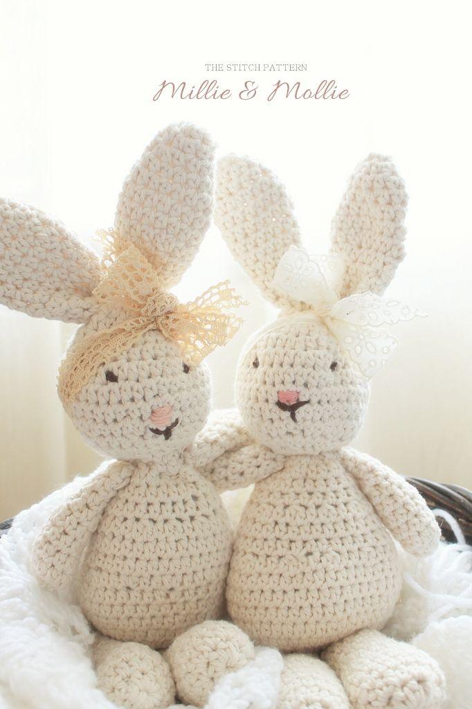 a stitched pattern: Crochet Briar Bunnies by Shari Leblanc. So cute ...
