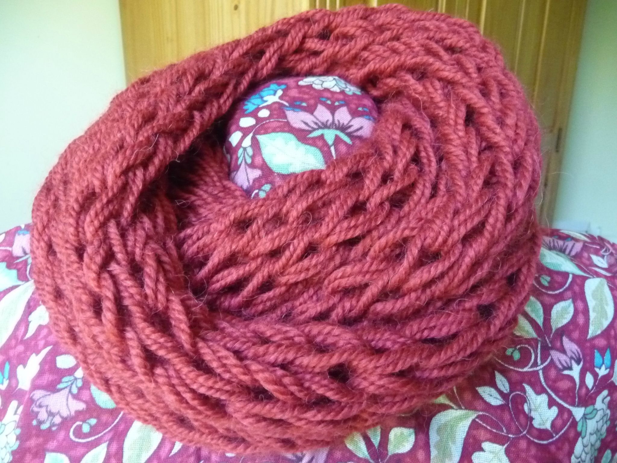 comment coudre un snood en laine