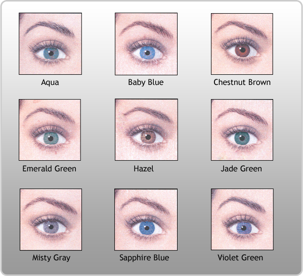 Pictures Of Eye Colors Color Chart