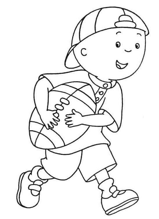 caillou plays coloring pages for kids printable free - Caillou Gilbert Coloring Pages