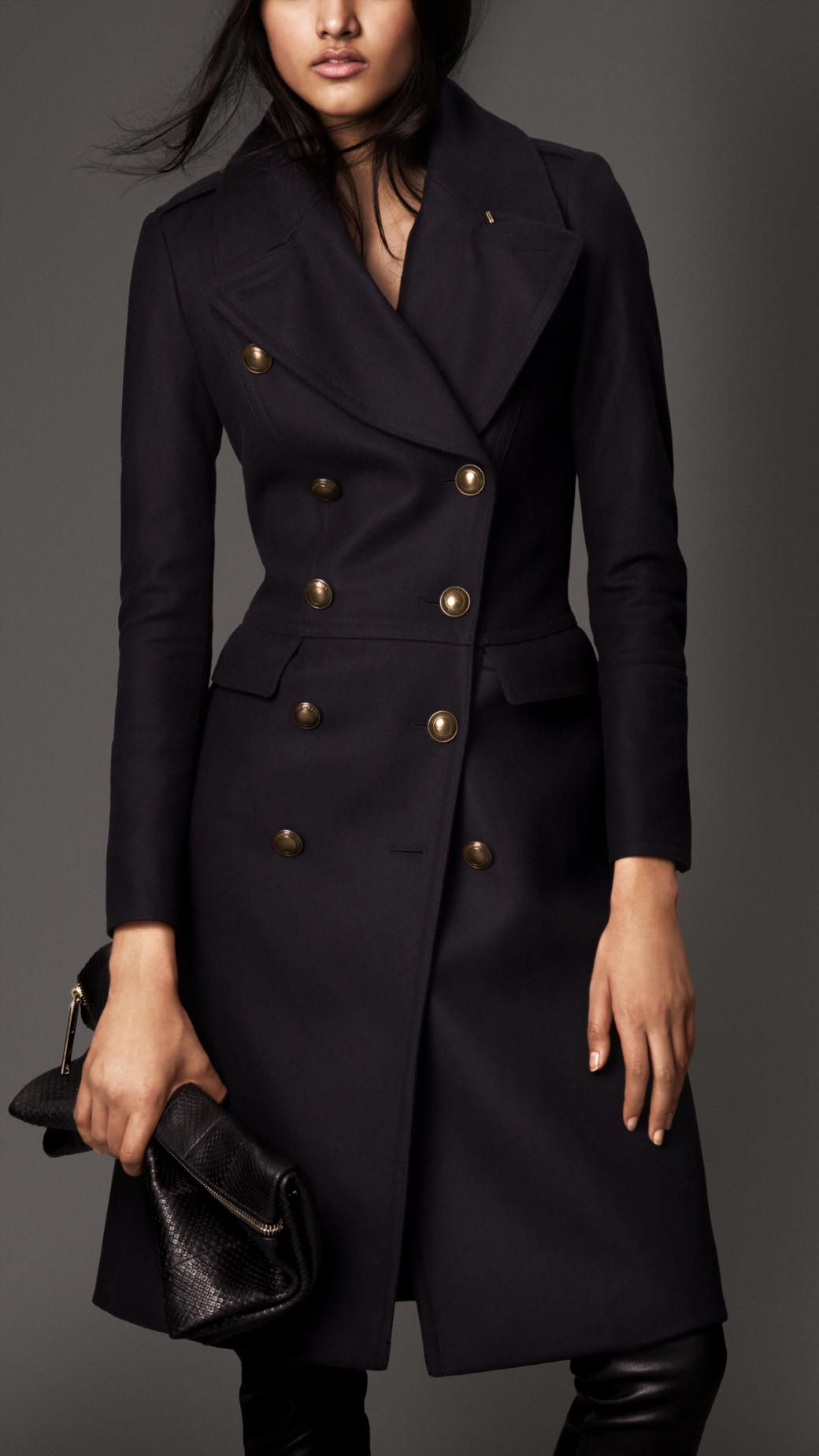 Burberry Wool Blend Fitted Military Coat | Co&Jack | Pinterest ...
