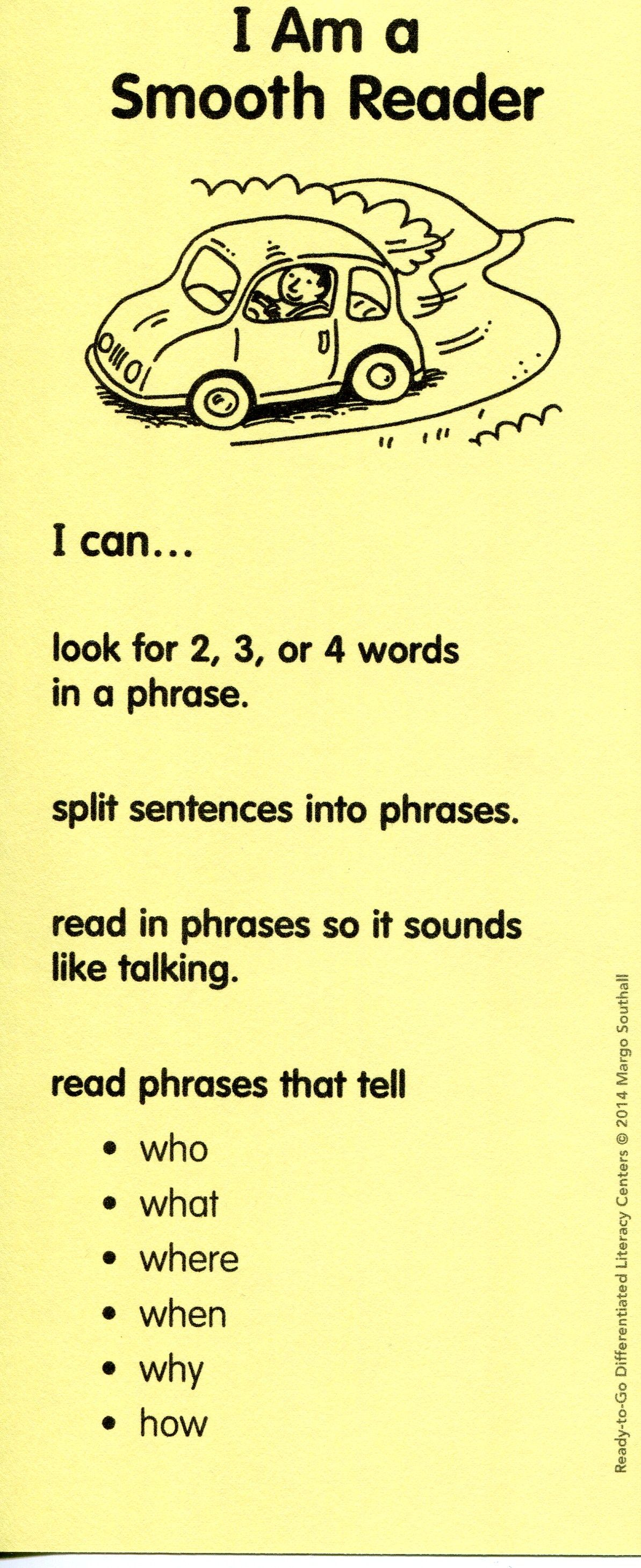 In Fluency Lessons Students Practice Reading With Phrasing