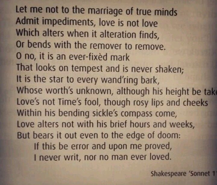 compare sonnet 116 and hour Hour • sonnet 43 compares well with hour - both present love as a positive and powerful force sonnet 116 • like sonnet 43 the shakespearean sonnet 116 is part of a larger sonnet sequence, and insists on the endurance of love.