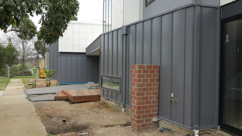 New Colorbond Colour Used In Residential Project True Blue Roofing Exterior Cladding Cladding Shutters Exterior