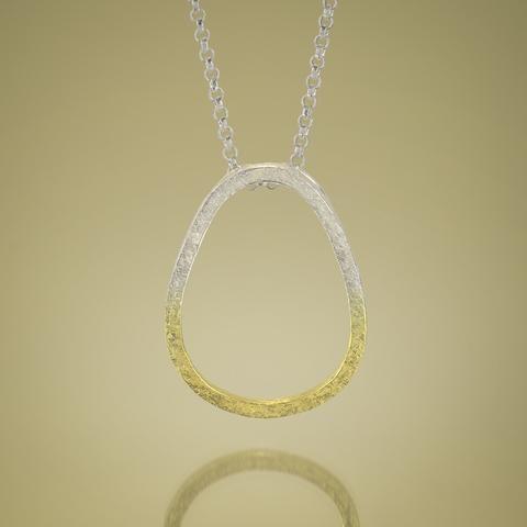 Give.Love Pendant Necklace - Silver Ombre Gold Vermeil