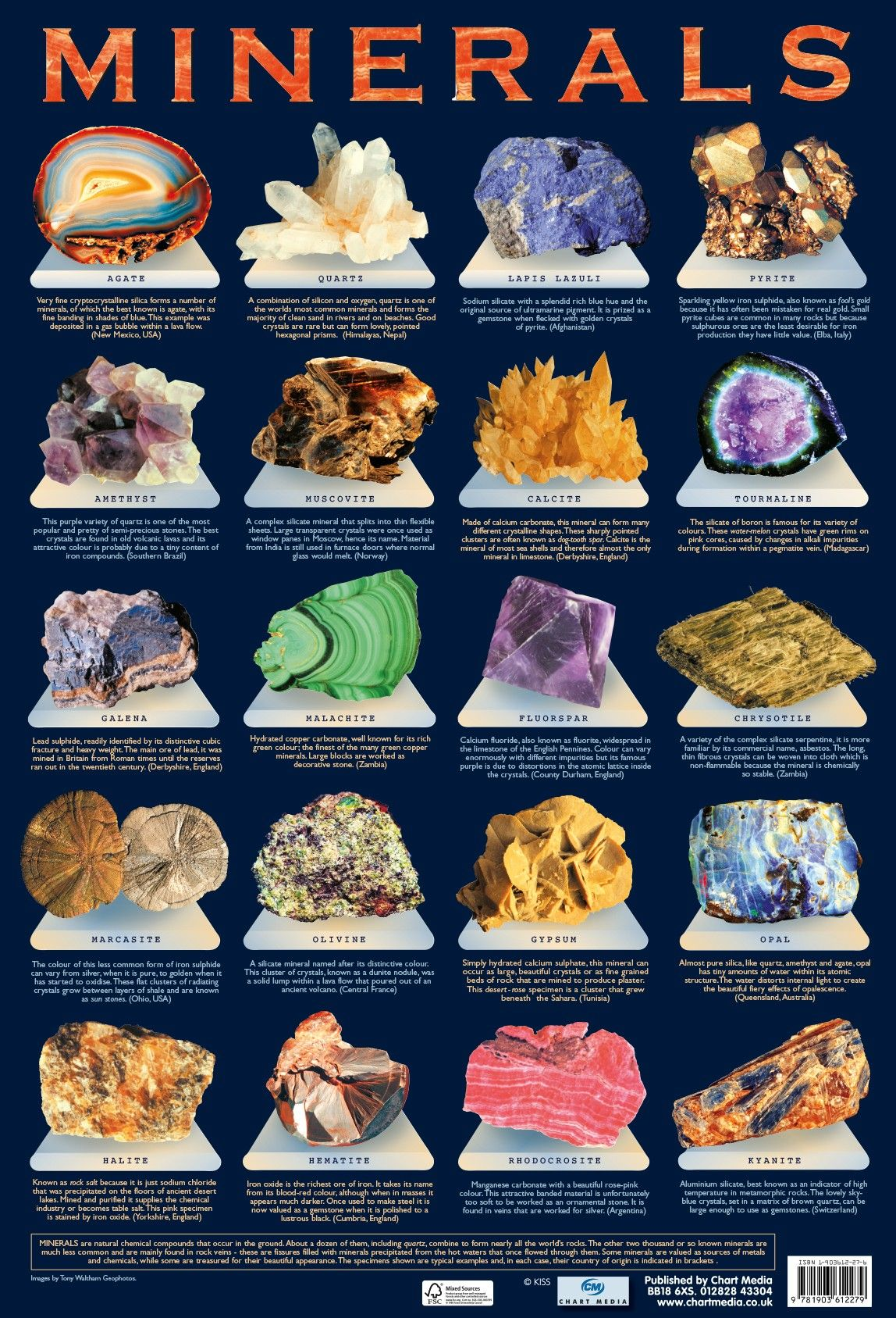 Minerals Poster By Chart Media