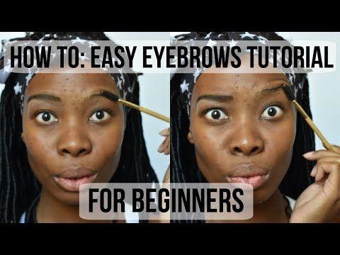 hair and beauty  eyebrow tutorial for beginners easy