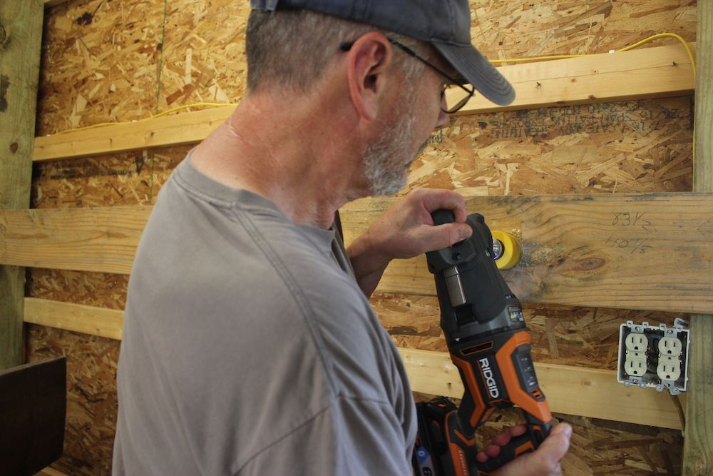 The Powerful Brushless Ridgid Megamax Power Base Can Power Up A Right Angle Drill Reciprocating Saw And Sds Rotary Hamme Angle Drill Drill Reciprocating Saw