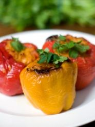 Vegetarian stuffed peppers  I imagine these would be good to make for non-veg company