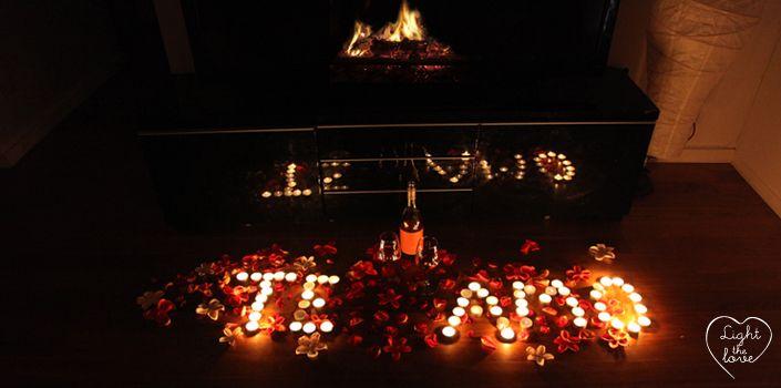 Lovedates love amor velas candles flowers roses - Como preparar una noche romantica ...