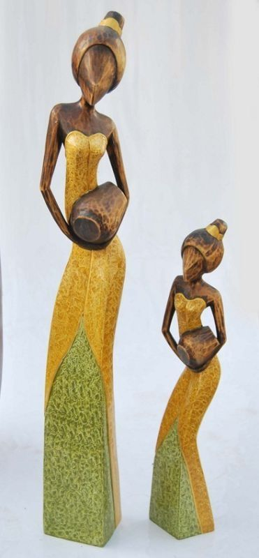 Figur Deko aus Holz 60cm Afrika Deko Lounge Deko | eBay