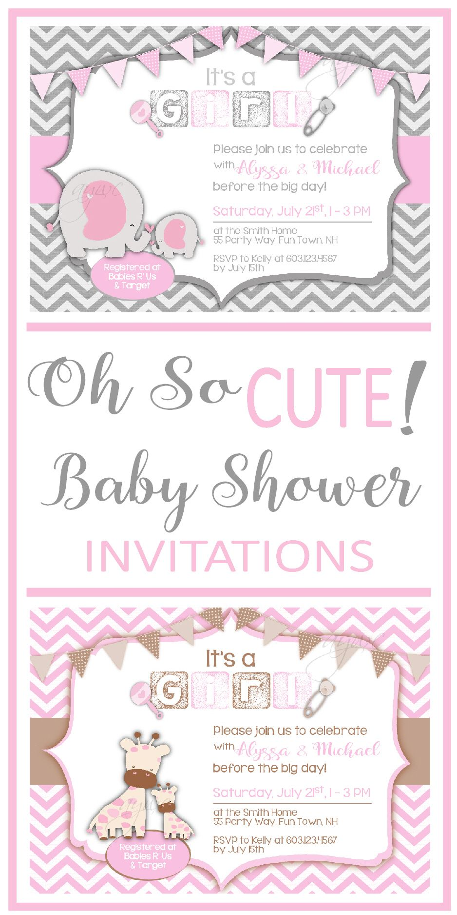 Baby Shower Invitations for Girls ~ Girl Baby Shower Invitations ...