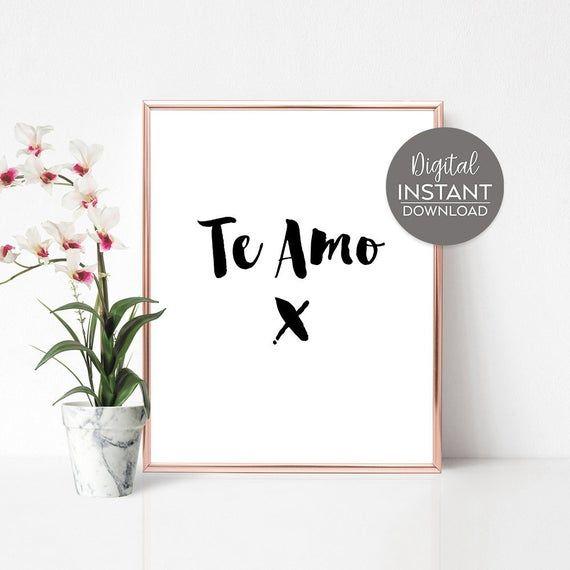 Women gift statement / Te Amo / Spanish quotes / Spanish poster / Love sayings / Girlfriend gift ide