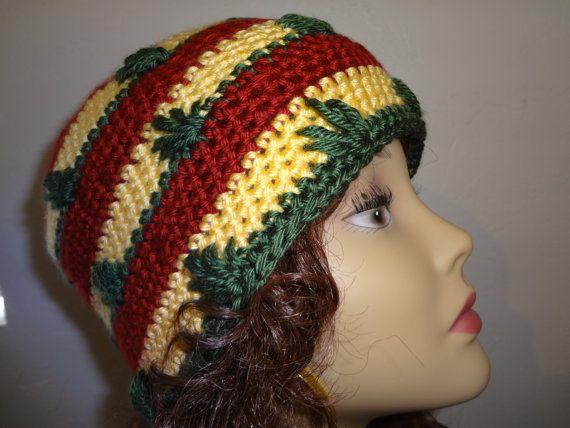 Pot Leaf Rasta Beanie | Crochet - Flowers | Pinterest | Schal häkeln ...