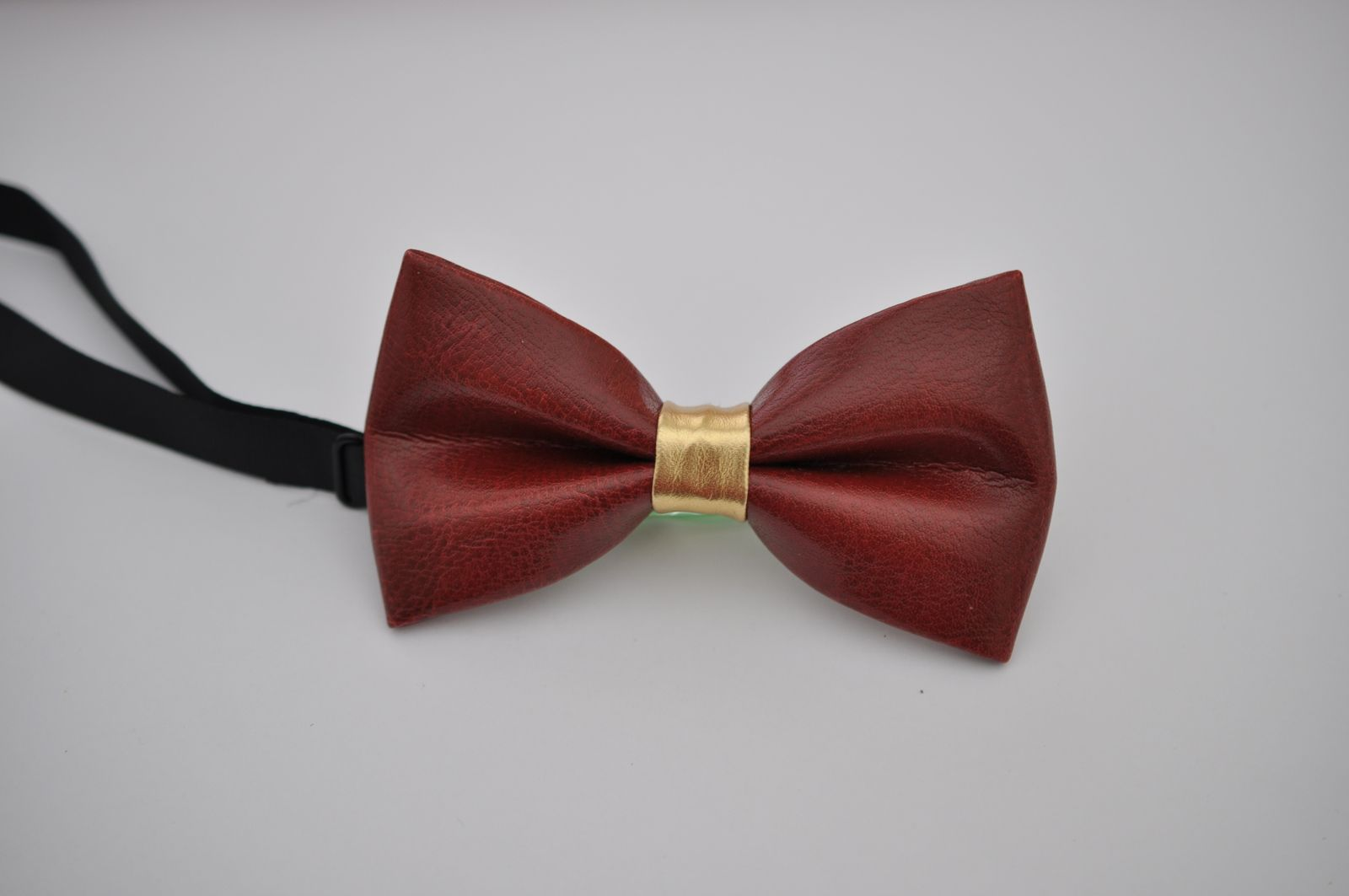 New Men Coffee Classical PVC Solid Shining Leather Bow Tie Wedding Party