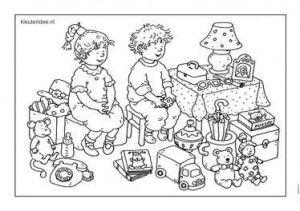 Speelgoed, kleurplaat kleuters, Dagmar Stam , groep 1 en