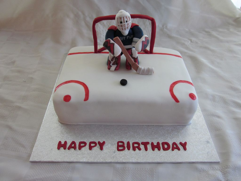 Hockey Goalie Birthday Cake Hockey goalie Birthday cakes and Cake