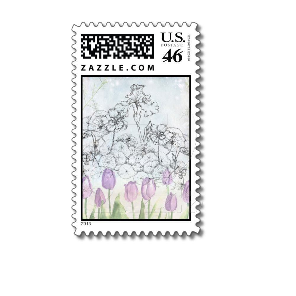 Nasturtium iris tulips winter flowers collage postage flower