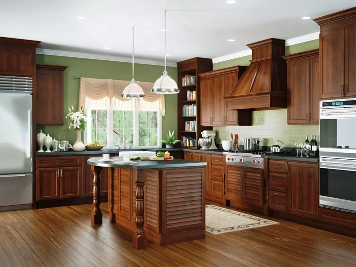 A beautiful cherry kitchen in Cayenne stain Most of the cabinets