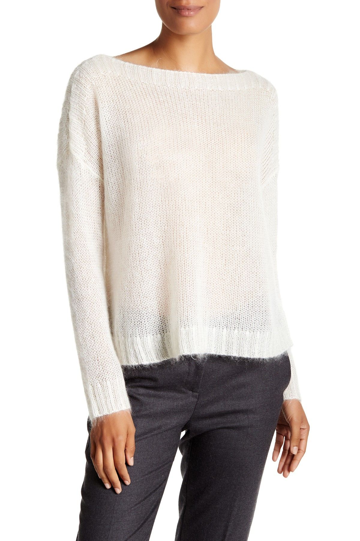 Boxy Mohair Blend Sweater
