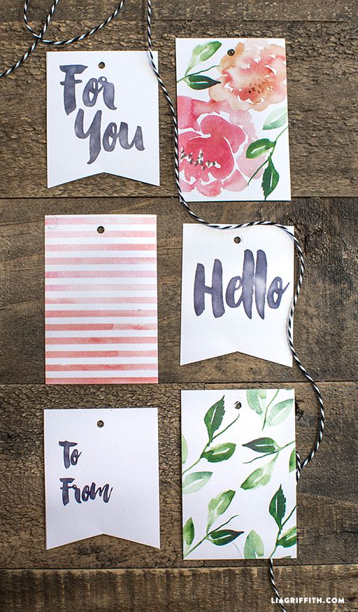 Floral Watercolor Gift Tags Gift Tags Printable Gifts Gift Tags