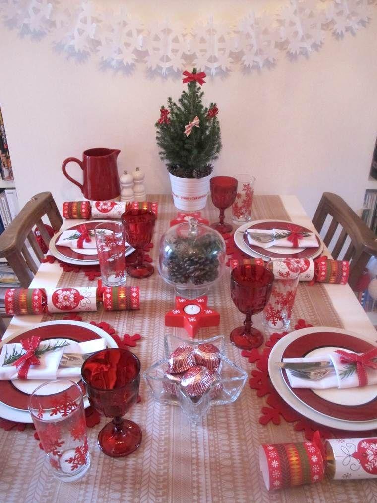 Réussir Sa Décoration Table De Noël Rouge Et Blanc Scandinavian