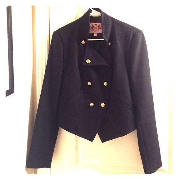 Juicy Couture Military Blazer/ Jacket Bought off consignment. I've never worn it, and I'm almost positive it's brand new. Comment if you have any questions! Juicy Couture Jackets & Coats Blazers