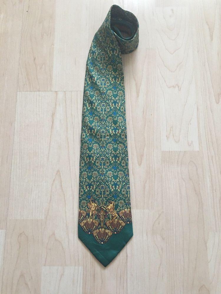 Royal Blue David Van Hagen Mens Leaf Pattern Silk Tie