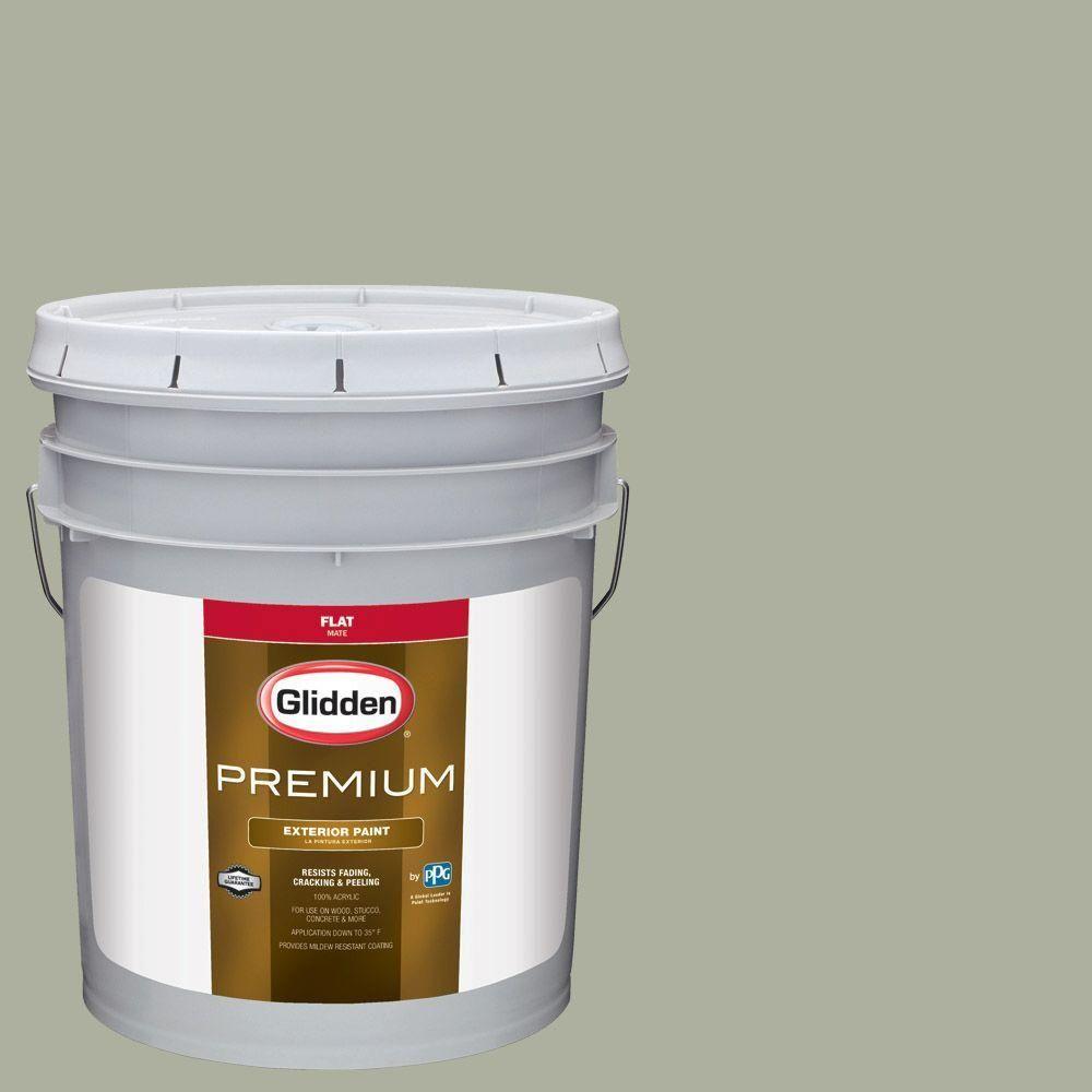 Glidden Premium 5-gal. #HDGCN07D Loden Frost Green Flat Latex Exterior Paint