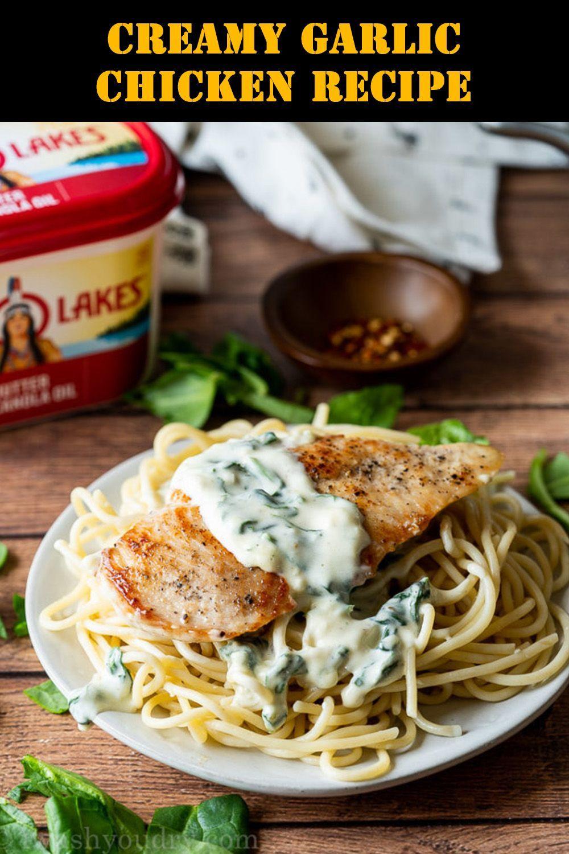 Creamy Garlic Chicken Recipe #creamygarlicchicken Creamy Garlic Chicken Recipe #GarlicChicken #GarlicChickenRecipes #CreamyChickenRecipes #CreamyGarlicChicken #ChickenRecipes #HealthyRecipes #creamygarlicchicken