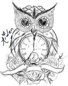 Owl With Clock Tattoo Meaning Google Search Tattoos Pinterest