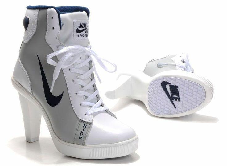 Satisfying Nike 2012 Heels Dunk High Womens Shoes Grey Blue SxP73ooZ