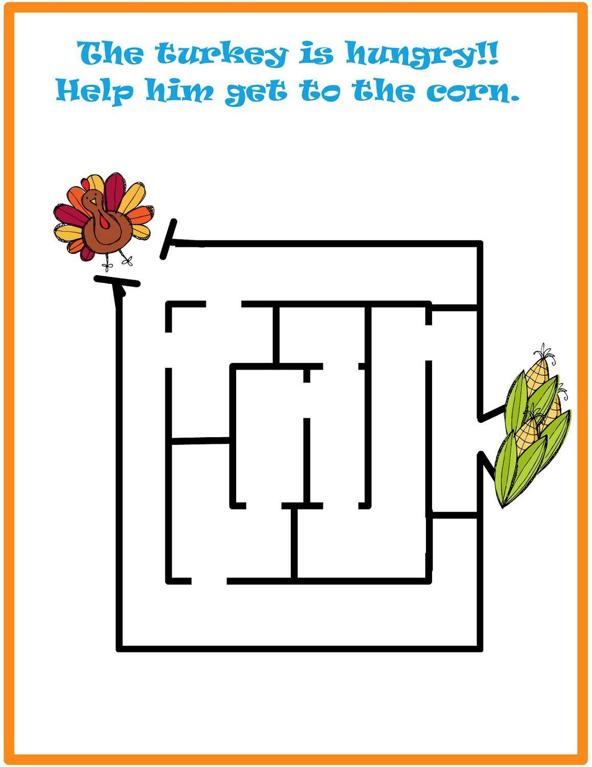 Simple Mazes For Kids