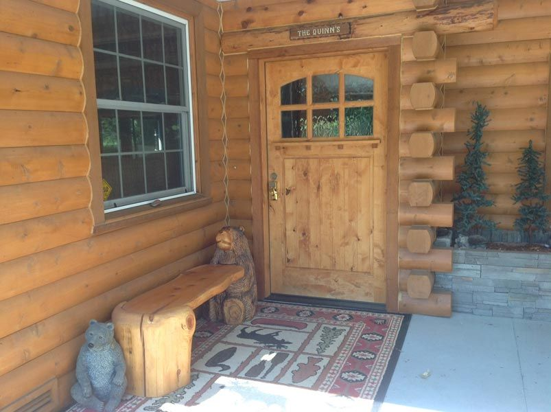 Exterior log siding for home #93 (front door) | Remodeling ...