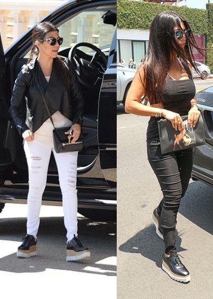 186e326cb72 How to style Stella McCartney s Britt lace-up platform shoes à la (Kourtney)  Kardashian - LaiaMagazine