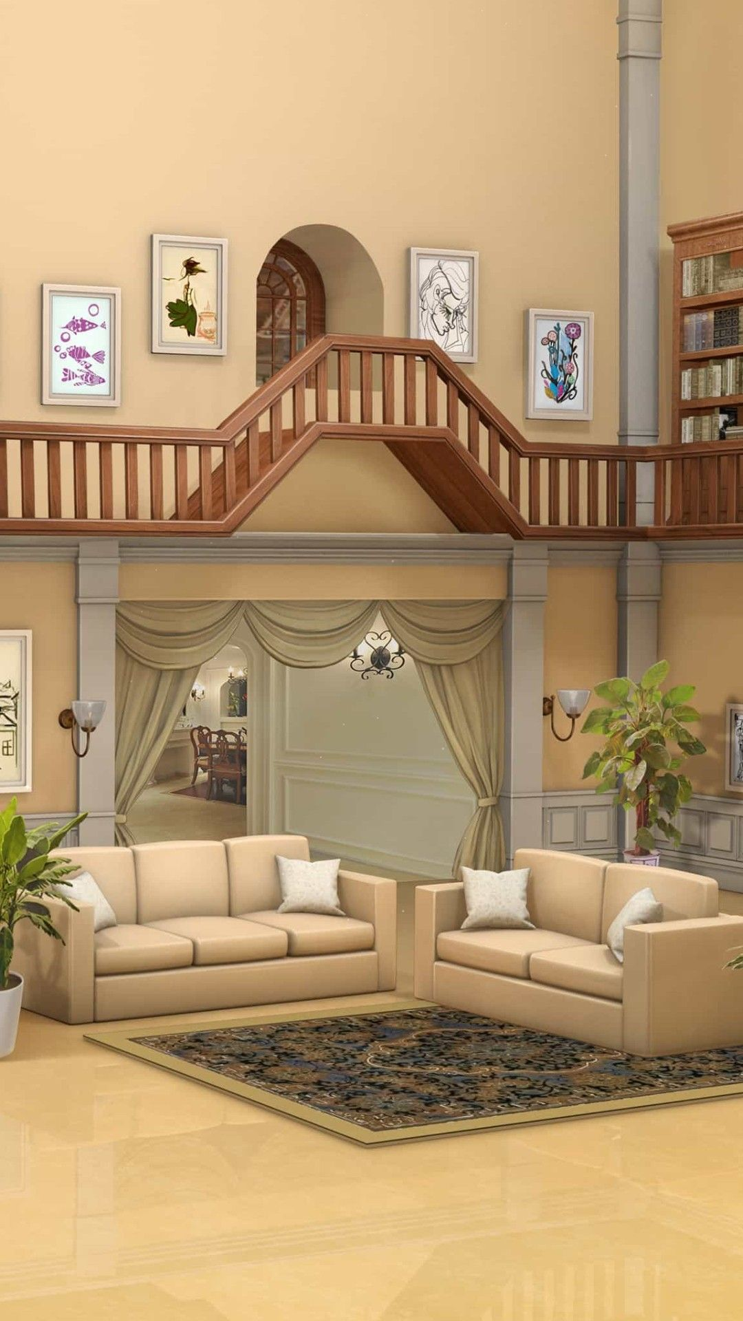 Pin By Anthony Roth On Choices Game Backgrounds Mansion Living Living Room Background Episode Backgrounds