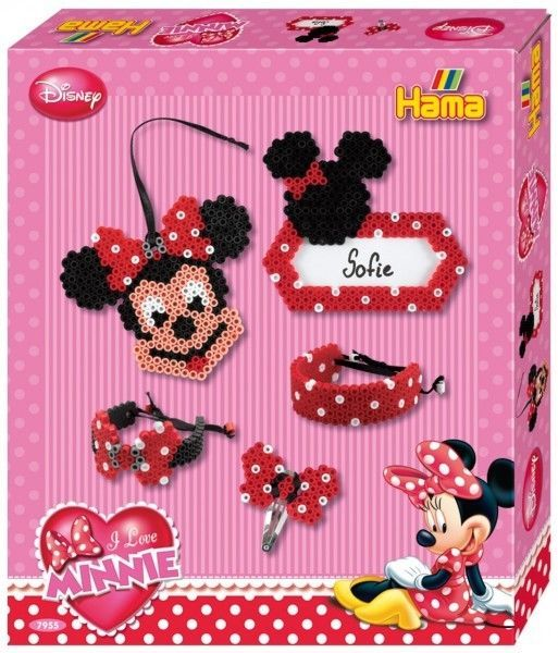 Minnie Maus - Hama Midi-Bügelperlen Geschenkpackung Nr. 7955