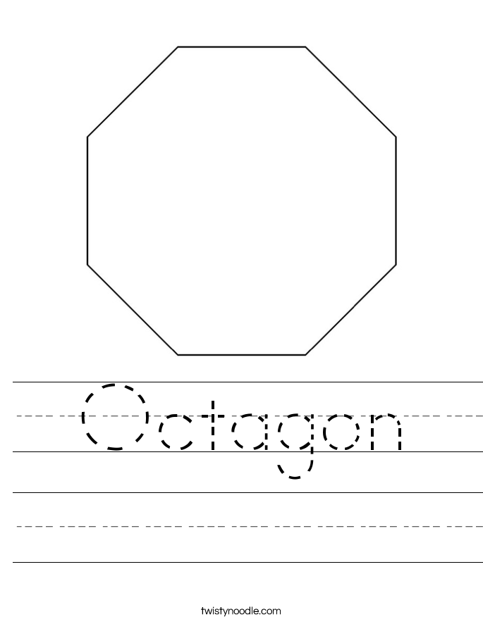 octagon worksheets for preschoolers octagon shape worksheet. Black Bedroom Furniture Sets. Home Design Ideas