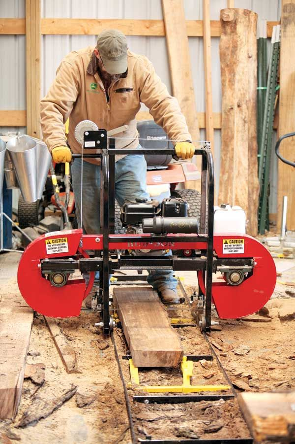 Use a Portable Sawmill to Make Your Own Lumber   Firewood ...