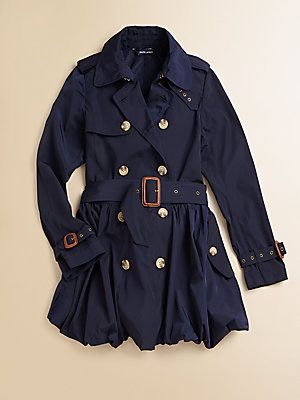 Ralph Lauren Girl's Double-Breasted Trenchcoat