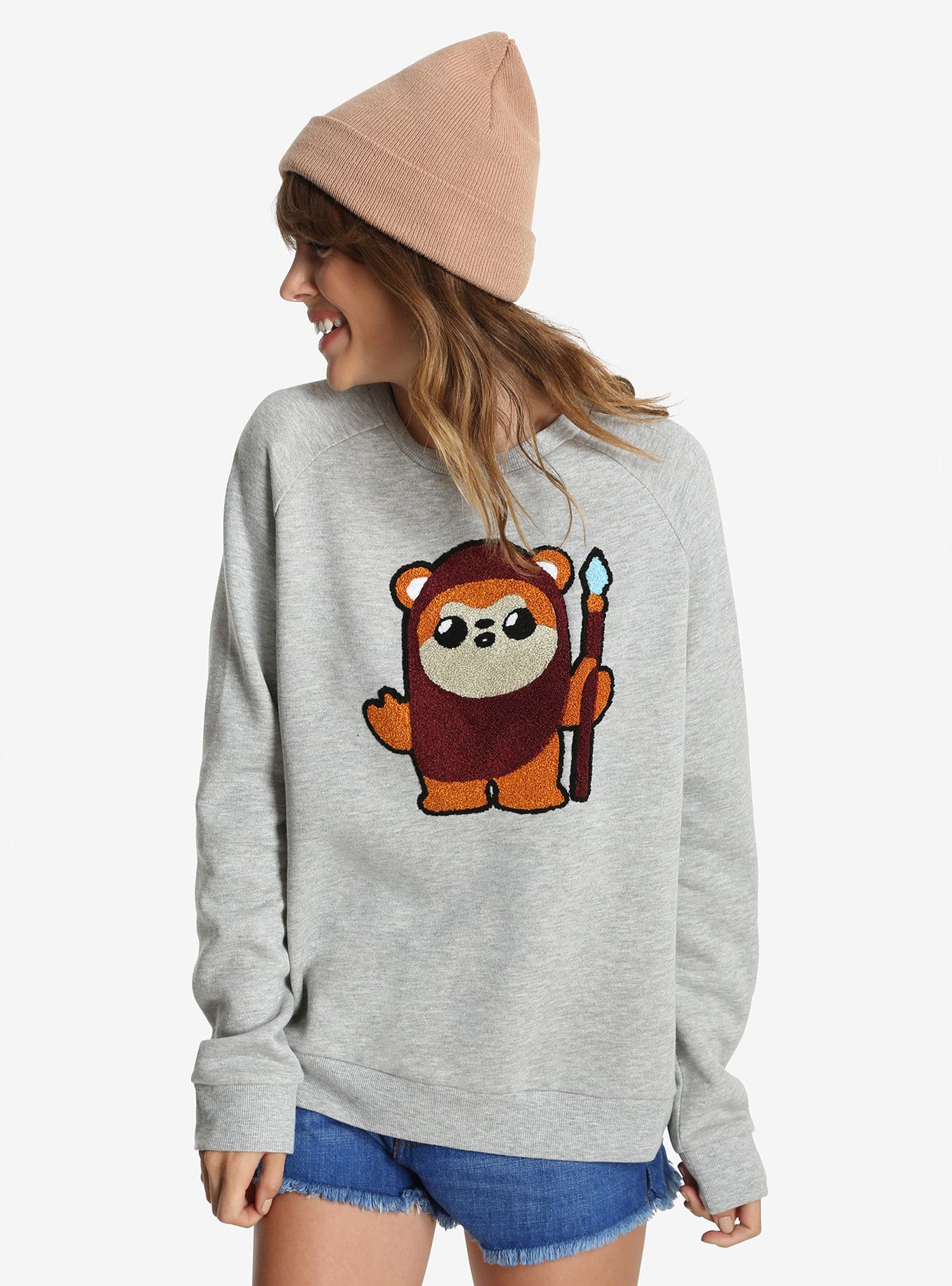 Star Wars Ewok Fuzzy Womens Pullover Sweatshirt BoxLunch - Hoodie will turn you into chewbacca from star wars